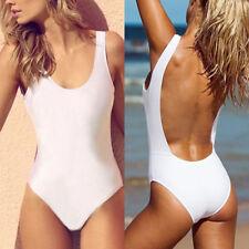 US Women Backless One-Piece Bikini Monokini Push Up Beachwear Swimwear Swimsuit