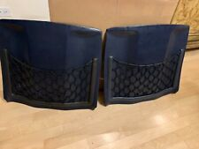 Mercedes W123  seat back panels with storage net, FITS 83 TO 85, color blue