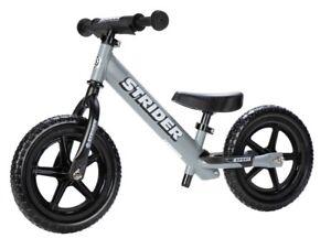 STRIDER 12 Sport Kids Balance Bike No-Pedal Learn To Ride Pre Matte Gray