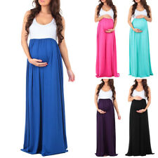 Pregnant Women Summer Casual Long Maxi Dress Maternity Photography Props Clothes