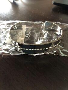 Paparazzi jewelry Raw Razzle White Rhinestone Cuff Bracelet New