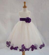 ROSE PETALS Flower Girl Dress Wedding Bridesmaid Birthday Pageant Formal Toddler
