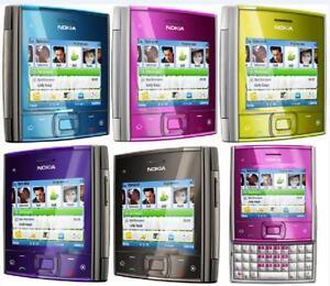 "Original Nokia X5 X5-01 3G Wi-Fi Bluetooth 2.4"" 5MP Slider QWERTY Cell Phone"