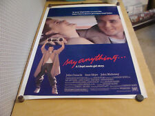 ORIGINAL RELEASE Rolled Movie poster: SAY ANYTHING  JOHN CUSACK 1989