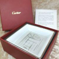 Authentic Cartier Porcelain Decorative Plate Not For Sale Novelty Item 8 x 8cm 2