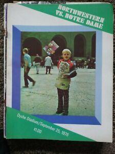 1976 NORTHWESTERN Football Program -v- Notre Dame