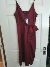 BNWT burgundy Pencil Evening Dress From NEW LOOK Size 14