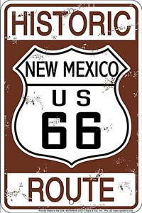 Historisch Route 66 Neu Mexico Geprägt Aluminium Schild 300mm x 200mm(Sf)