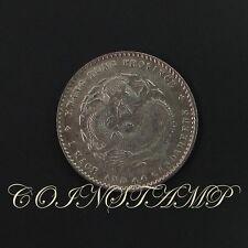 China, KwangTung Province 20 Cents, Kuang-hsu, Dragon Silver coin, AU~
