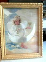 """Donald Zolan LOVE SONG Angel 6""""x 8"""" framed offset PRINT MINT CONDITION"""
