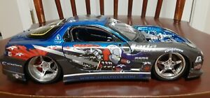 Jada Toys 1:18 Mazda Rx-7 Diecast Car Import Racer Option D RX7 Rare Ninja