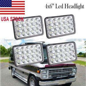 "For Chevrolet G20 G30 C10 C20 C30 K10 K20 K30 4x6"" LED Headlight Hi/Lo Beam 4Pcs"
