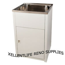 45L Laundry Trough Cabinet 630*470mm Stainless Steel Sink with Cabinet