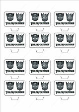 Novelty Transformers Logo Edible Cake Cupcake Toppers Decorations Birthday Film