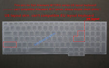 US Keyboard Silicone Skin Cover Protector for Dell Alienware M17(R2)laptop