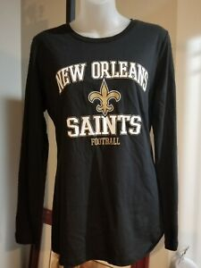 New Orleans Saints Majestic Shirt Women's Medium nwt Free Ship