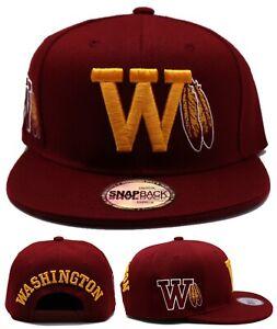 Washington New Leader Football Team Club Redskins Burgundy Era Snapback Hat Cap