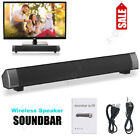 Bluetooth Sound Bar Wireless Subwoofer Home Theater TV Speaker Stereo w/ Remote