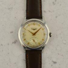 C.1955 Vintage Longines Calatrava oversize watch cal.12.68Z ref. 6263-8 in steel