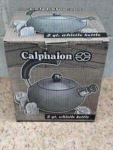 CALPHALON Anodized Aluminum Whistling Tea Pot/Kettle