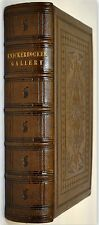 1855 KNICKERBOCKER GALLERY PORTRAITS  LITERATURE POETRY LEATHER TOOLED GILT EDGE