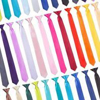 "Tie Co Men's Slim Thin Skinny 2"" / 5cm Clip On Safety Tie - All Colours + Black"