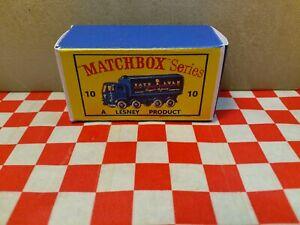 Matchbox Lesney No10 Sugar Container Truck EMPTY REPRO Box Only NO TRUCK