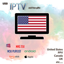 IPTV Usa subscription 1 year, PPV, (Canada,uk, arabic, & more optional) ask4demo