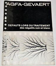 AGFA-GEVAERT DEFAUTS LORS DU TRAITEMENT DES NEGATIFS N&B (NOIR et BLANC)