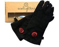 Ecolighters - Leather Gloves Woodburner Stove Gloves Log Heat Resistant Black