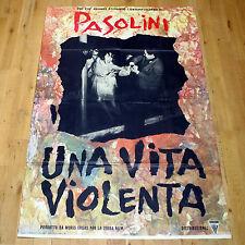 UNA VITA VIOLENTA manifesto poster affiche Pier Paolo Pasolini Franco Citti