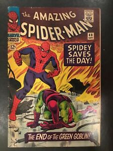 the Amazing Spiderman spidey saves the day #40 1966