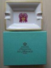 NEW MANUFACTURE DE MONOCO PORCELAINE ASHTRAY, HAND MADE, BOXED/NEW.