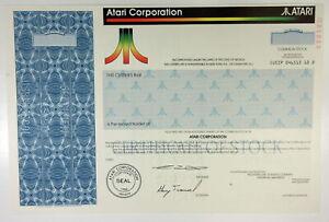 1990 ATARI CORPORATION Stock Certificate SPECIMEN