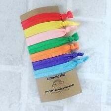 Rainbow Hair Ties / Wristbands / Festival Bands Gift
