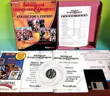 Advanced Dungeons and Dragons 9 Game SSI PC Collectors Edition Box Inserts Only