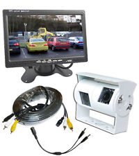 Motorhome Twin Camera Rear View Reversing System & Dash Monitor (white camera)