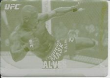 Thiago Alves 2013 Topps UFC Knockout Yellow Printing Plate Card # 2 1/1