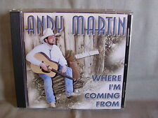 Andy Martin- Where I´m Coming from- KOCH 1998 WIE NEU mit Autogramm