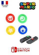 Lot 4 Protections Silicone Grip Joystick Super Mario Manette Joy-Con Switch NS