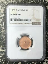 1967 Canada 1 Cent NGC MS65 Red Lot#RM33 Gem BU!