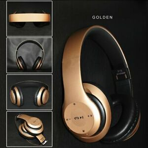Bluetooth Headphones Wireless Foldable Stereo Earphones Super Bass Headset Mic
