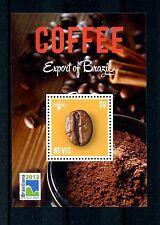Nevis 2013 MNH Coffee Export of Brazil 1v S/S Brasiliana Flowers Plants Stamps