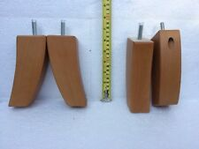 (D)New 4x Wooden Furniture FEET /LEGS For SOFAS, CHAIRS, STOOLs, CABINETS & BEDS