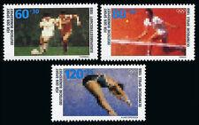 Germany B663-B665, MNH. Sports. Soccer, Tennis, Diving, 1988