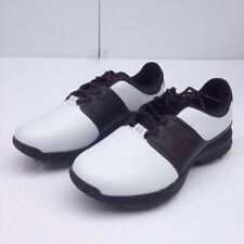 469fa779185 Adidas Mens Grandview Golf Shoes White Brown Lace Up Classic Sport Cleats 8  New
