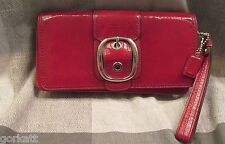 COACH BLEECKER WRISTLET/CLUTCH F43371~RED PATENT LEATHER~HOLIDAY & PROM READY~