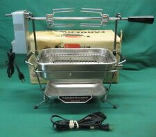 Farberware 445 Open Hearth Electric Broiler & Rotisserie Serviced; Mint