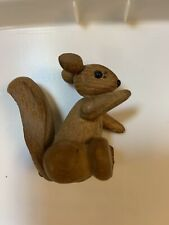 Tiny Teak Wood-articulated Squirrel Zoo-Line Los Angeles Made In Japan