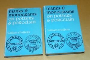 2 VOLUMES MARKS & MONOGRAMS ON POTTERY & PORCELAIN BY WILLIAM CHAMBERS